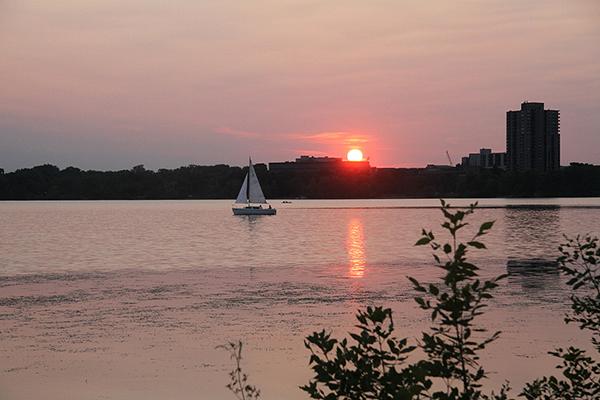 Lake Calhoun in July. - Riham Feshir/MPR News