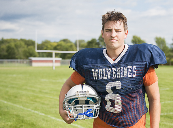 Danny Charron is a senior at Glenville-Emmons High School and plays football and basketball. - Colleen Harrison/Albert Lea Tribune