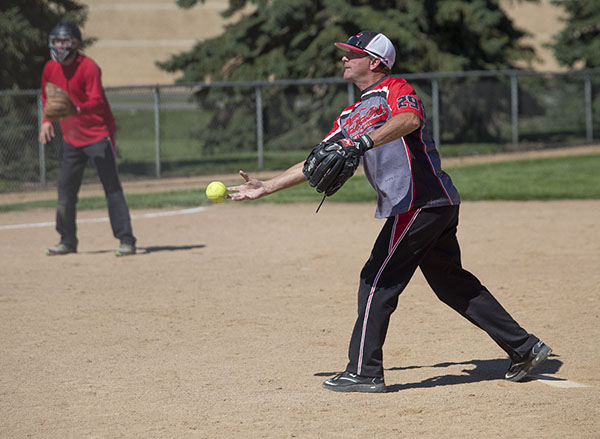 The eighth annual Ryan Truesdell Memorial Softball Tournament was Saturday and Sunday at Snyder Field in Albert Lea. The tournament remembers Truesdell, an avid softball player, who died on Aug. 14, 2007, when he was trapped in a grain elevator at the Glenville Grain elevator. - Colleen Harrison/Albert Lea Tribune