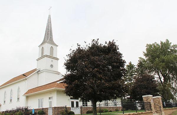 Round Prairie Lutheran Church south of Albert Lea will celebrate its 150th anniversary on Sunday. - Sarah Stultz/Albert Lea Tribune