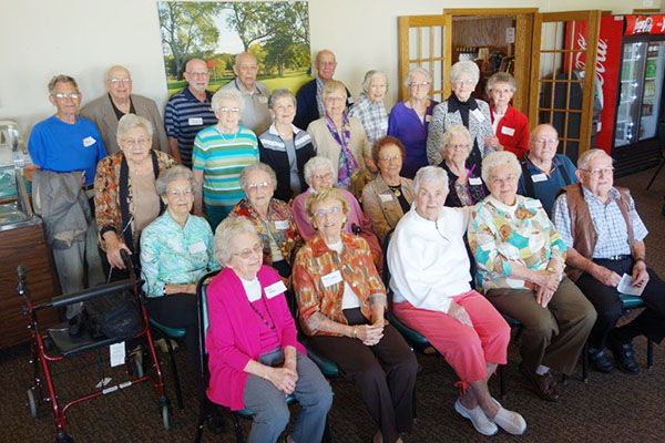 The 70th class reunion of the Albert Lea High School Class of 1945 was Sept. 12 at Green Lea Golf Course. The 24 classmates in attendance enjoyed lunch and social time. -Provided