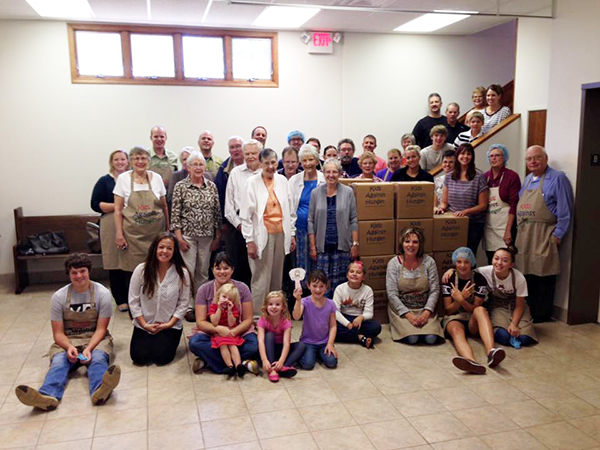 Members and friends of Salem Lutheran Church packed 8,204 meals for Real Hope for the Hungry on Sept. 20. Many of the meals will be sent to impoverished populations around the world and some will be available at the Albert Lea Salvation Army. Provided