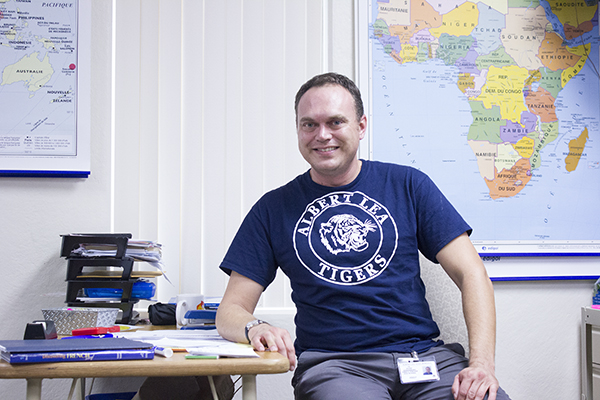 Peter Sunnarborg is the new French teacher at Albert Lea High School. - Sam Wilmes/Albert Lea Tribune