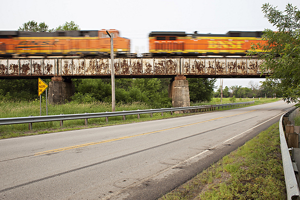 A railroad bridge in Wilkin County in northwestern Minnesota. Drones may soon be used to gather close-up imagery of structural flaws. - Ann Arbor Miller/MPR News file