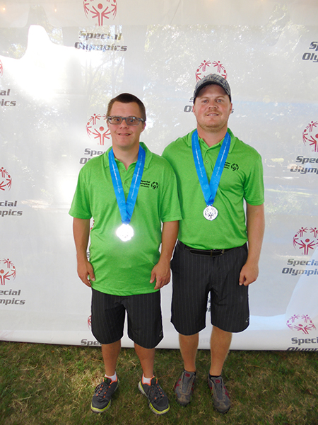 Kellen and Devin Kaasa participated in the Special Olympics North American Regional Golf Championship on Hilton Head Island in South Carolina. They participated in the nine-hole alternate shot division and won the silver medal in the first flight, shooting a three-round total of 136. There were a total of 34 teams in the division.  In 2013 the Kaasas won the gold in New Jersey by nine strokes, and the silver was won by the Martinez father and son team from Kansas City. This year, the Martinez team won the gold by five strokes. Both teams are looking forward to the 2016 tournament,tentatively slated to be held in Florida. Kellen Kaasa has worked at Hy-Vee in Albert Lea for 13 years, and Devin Kaasa is the competition and training manager for Special Olympics Minnesota. Their home course is Green Lea Golf Course in Albert Lea. - Provided