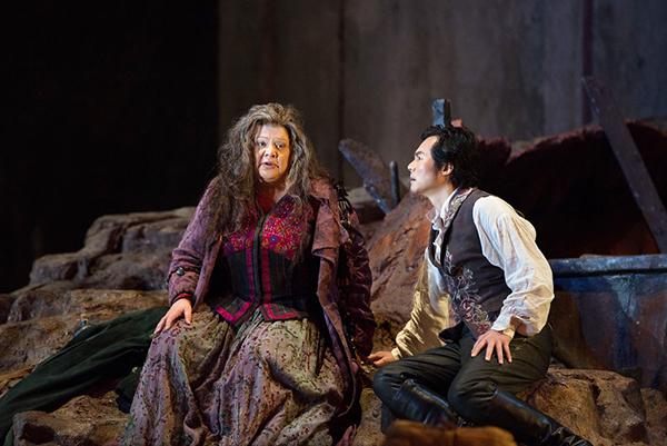 "Yonghoon Lee as Manrico and Dolora Zajick as Azucena perform in ""II Trovatore"" by Verdi. - Marty Sohl/Metropolitan Opera"