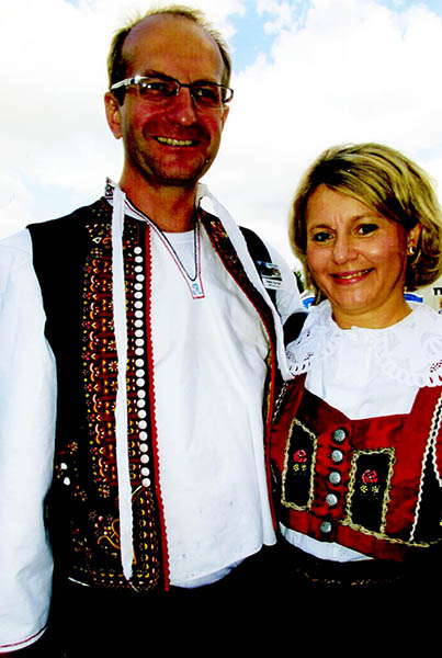 Pavel and Petra Vild from the Czech Republic participated in the Czech Festival. - Provided