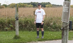 Albert Lea ultramarathon runner Jeff Miller stands near the Blazing Star Trail in Myre-Big Island State Park. Miller did some training on the trail and took 16th out of 161 runners on Sept. 11 and 12 at the Superior 100, a 100-mile race. - Micah Bader/Albert Lea Tribune