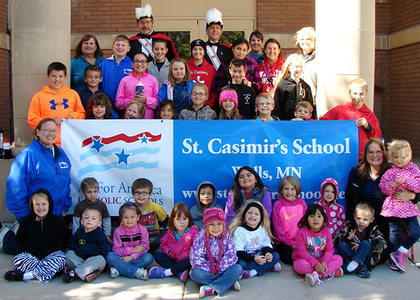 St. Casimir's students and staff participated in the Knights of Columbus Marathon for Nonpublic Education on Oct. 2. Provided