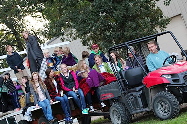 The Hayward 4-H club celebrates National 4-H Week with a hayrack ride and other activities. -Provided