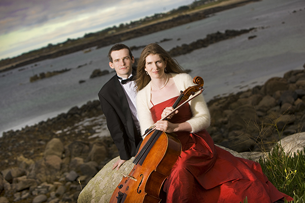 Cellist Rebecca Hewes and organist Julian Collings will perform as the Svyati Duo Thursday at First Lutheran Church in Albert Lea. - Provided