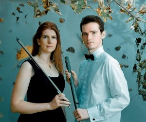 Cellist Rebecca Hewes and organist Julian Collings will perform as the Svyati Duo at 7 p.m. Thursday at First Lutheran Church in Albert Lea. The duo is from the United Kingdom and performs around the world. - Provided