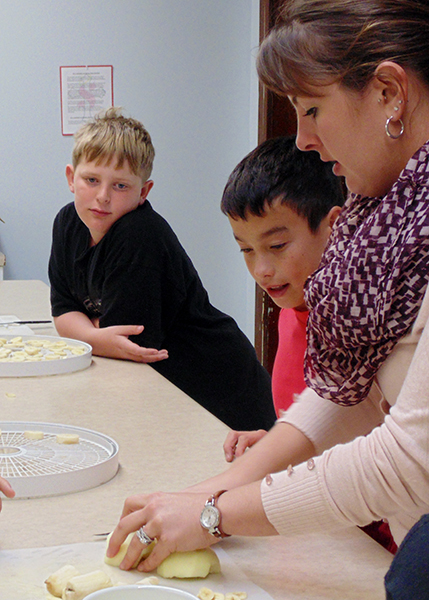 The fifth- and sixth-grade science class at St. Casimir's School in Wells have been working through their unit on nutrition. Classroom teacher Chelsea Sonnek guided students through the process of making fresh salsa, baked apples with cinnamon and dehydrated fruit. - Provided