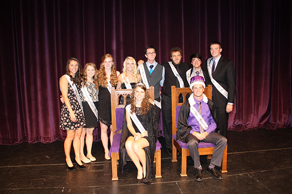 Seniors Scott Greenman and Lauren Nelson were crowned king and queen at the University of Sioux Falls 2015 Homecoming Coronation. Members of the Homecoming Court included Seniors Rachel DeBoer, Emily Erickson, Jagger Gran, Ryan Howe, Andrew Kawasaki, Katie Stahl, Colleen Thompson of Clarks Grove and Bryce Wildenauer. Provided