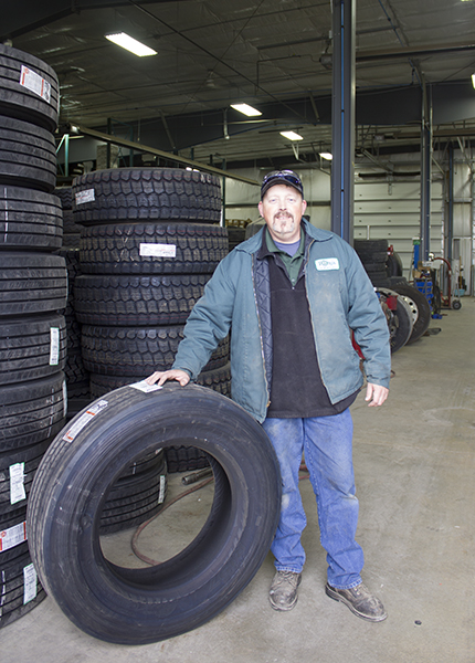 Phalen Seedorf is a service manager at Pomp's Tire Service in Albert Lea. - Sam Wilmes/Albert Lea Tribune