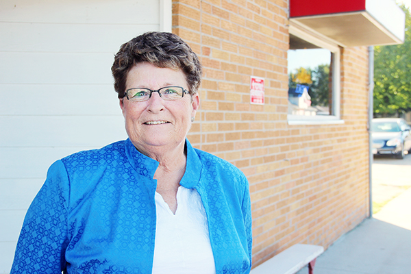Sandy Fredrickson of Glenville is serving as the American Legion Auxiliary department president, which covers the entire state.  - Sarah Stultz/Albert Lea  Tribune