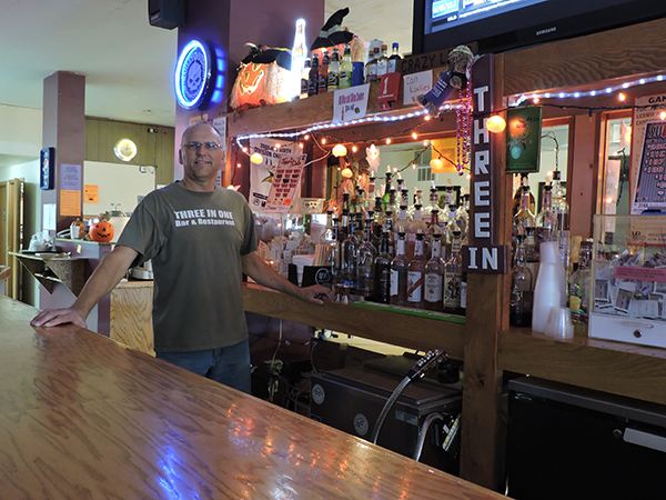 Hollandale 3 in 1 Bar and Restaurant owner Dale Miller works six days a week at his establishment. - Kelly Wassenberg/Albert Lea Tribune