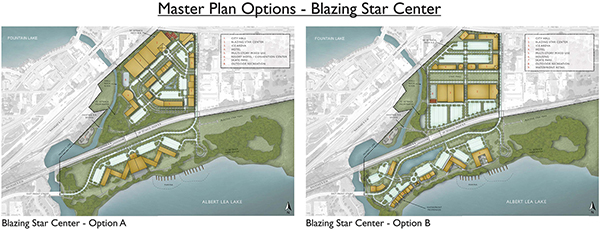 The city has two options for the former meatpacking plant now known as the Blazing Star Landing. - Provided