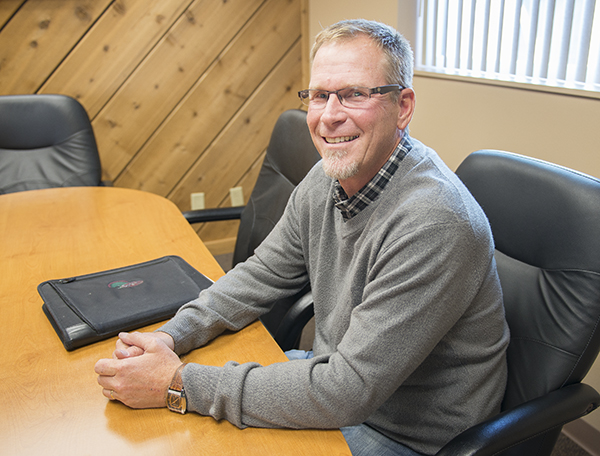 Jim Esson, 52, is the support services and production manager at Cedar Valley Services. - Colleen Harrison/Albert Lea Tribune