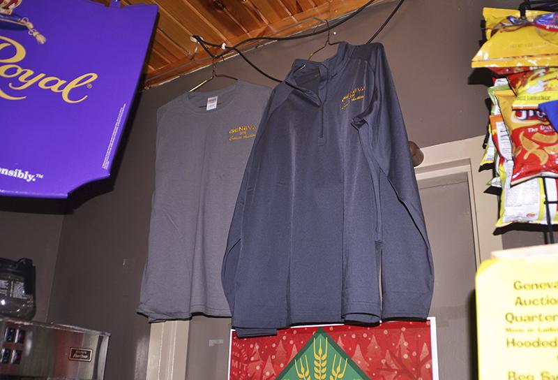 Shirts donated for the 2016 Geneva Cancer Auction. - Dustin Petersen/Albert Lea Tribune