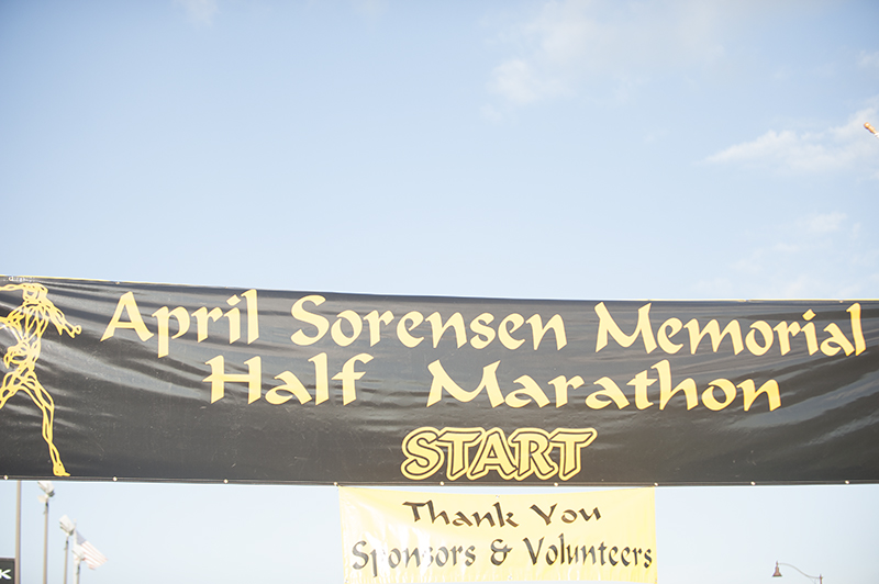 The annual half marathon is in memory of April Sorensen, an Albert Lea High School graduate who was found dead in her Rochester home in 2007. - Jarrod Peterson/Albert Lea Tribune
