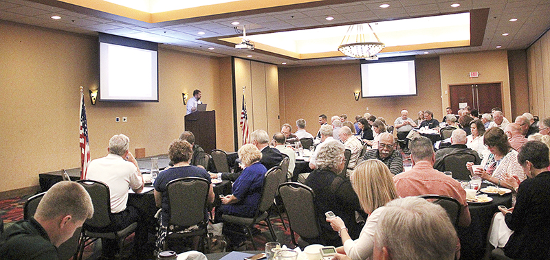 The Coalition of Greater Minnesota Cities Summer Conference gets underway with more than 70 people in attendance at the Holiday Inn Austin Conference Center on Wednesday. - Jason Schoonover/Albert Lea Tribune