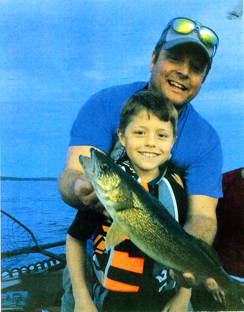 Jacques Koetke, 9, of Rosemount caught this 17-inch walleye while fishing with his dad, Mark, on Lake Mille Lacs on July 2.
