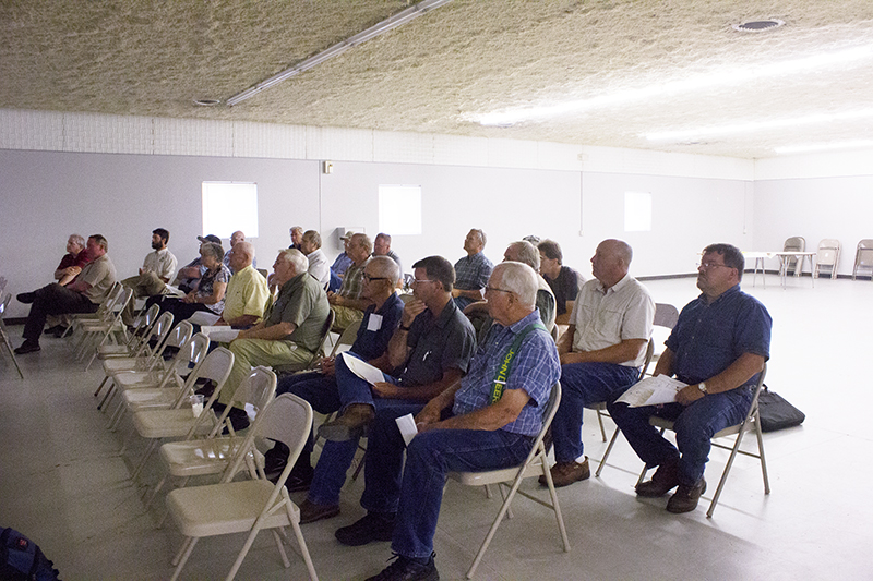 More than two-dozen people attended an informational session on buffer requirements Thursday night at the Freeborn County Fairgrounds.  - Sam Wilmes/Albert Lea Tribune
