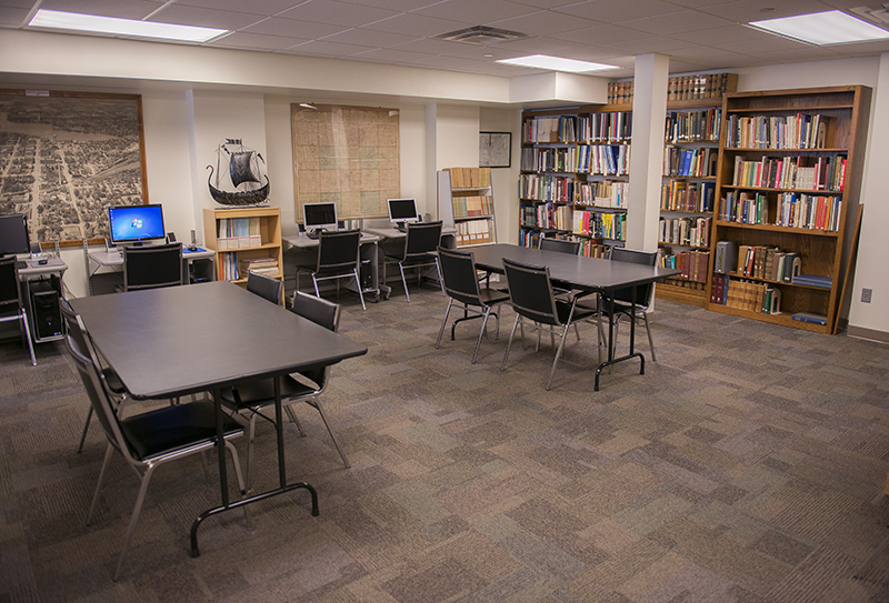 The new library area in the Freeborn County Historical Museum's main building now has more room for visitors to do research on various topics, such as family and local history. - Colleen Harrison/Albert Lea Tribune