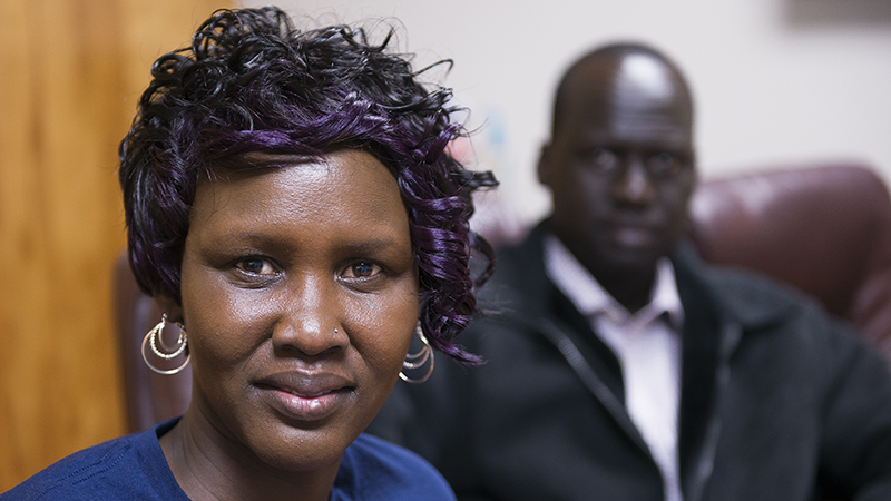 Martha Gony is a South Sudanese refugee that has lived in Albert Lea since 2011. She speaks English, but is looking to become more fluent so she can apply for U.S. citizenship. - Colleen Harrison/Albert Lea Tribune