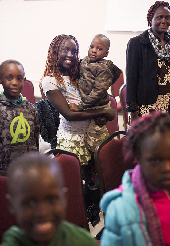 The majority of church-going South Sudanese refugees in Albert Lea attend services led by the Rev. Simon Dhol at First Presbyterian Church. - Colleen Harrison/Albert Lea Tribune