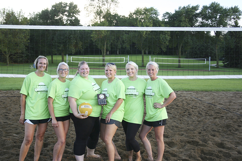 I Got Your Back was crowned the champion of the women's volleyball league. From left, are Trisha Hansen, Alicia Heilmann, Molly Easley, Lindsey Drescher, Nikki Schrader and Abbey Hullopeter. Provided