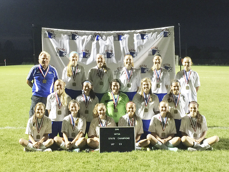 A few local Albert Lea girls soccer players joined forces with Owatonna's team and together the team won the 2016 Minnesota Youth Soccer Association state championship in July. Owatonna People's Press
