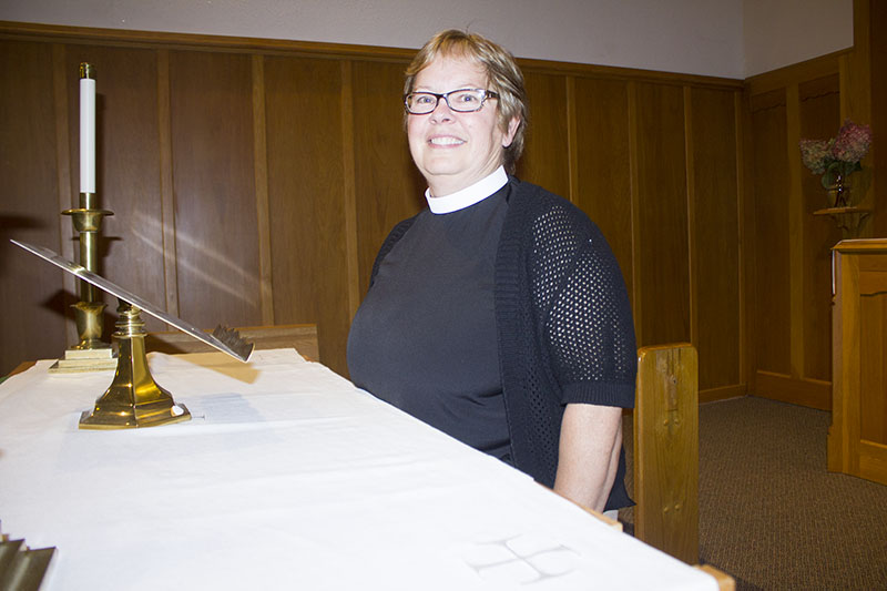 Concordia Lutheran of Pickerel Lake Pastor Wendy Anderson hopes to build on the community the church has established in its 150 years of operation. — Sam Wilmes/Albert Lea Tribune