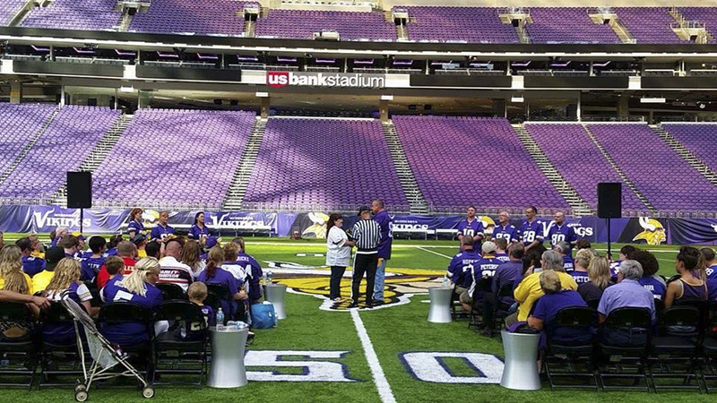 Albert Lean Jacob Abrego was the DJ for this wedding at U.S. Bank Stadium Sept. 3. Provided