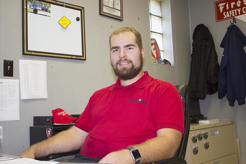 Matt Seffinga is the store manager at Bauer Built Tire. — Sam Wilmes/Albert Lea Tribune