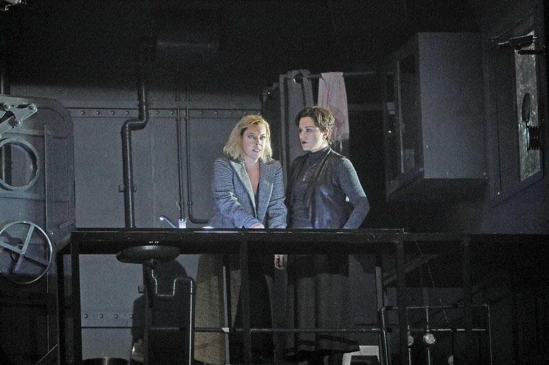 "Nina Stemme performs as Isolde and Ekaterina Gubanova as Brangane in Wagner's ""Tristan und Isolde."" Ken Howard/Metropolitan Opera"