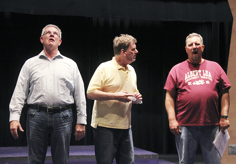 """Steve Stoneking, Gordy Handeland and Jason Howland are the three male actors in """"Mid-Life! The Crisis Musical."""""""