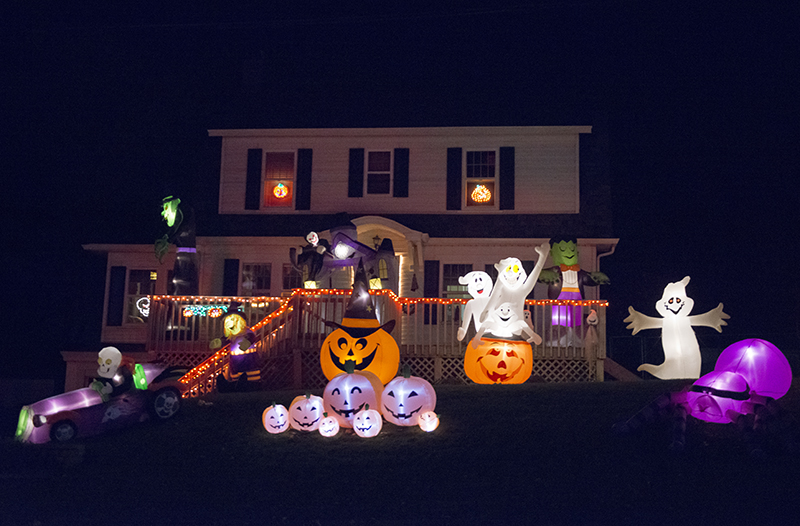 Different inflatables and other decorations have been added to the house's decor over the years. - Colleen Harrison/Albert Lea Tribune