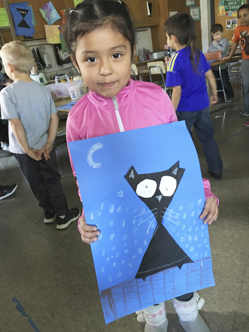 Denise Palma made a cat out of shapes. - Provided