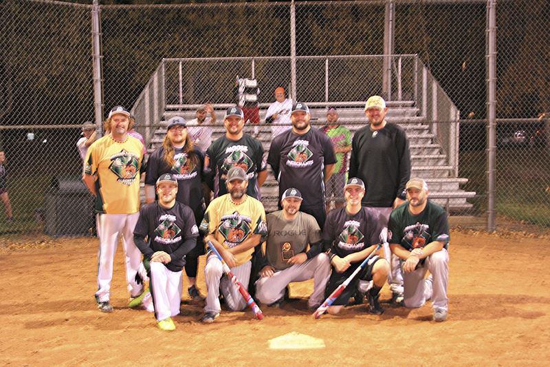 The Moose Merchants were named the adult fall men's softball champions of the Albert Lea Parks and Recreation adult fall softball tournament. From left to right, front row, Dave Cunningham, Doug Fink, Mike Cunningham, Taylor Bordelon and Derek Fleek. Back row, Ron Hansen, Keith Hill, Josh Kern, Mike Diemer and Greg Schulz. - Provided