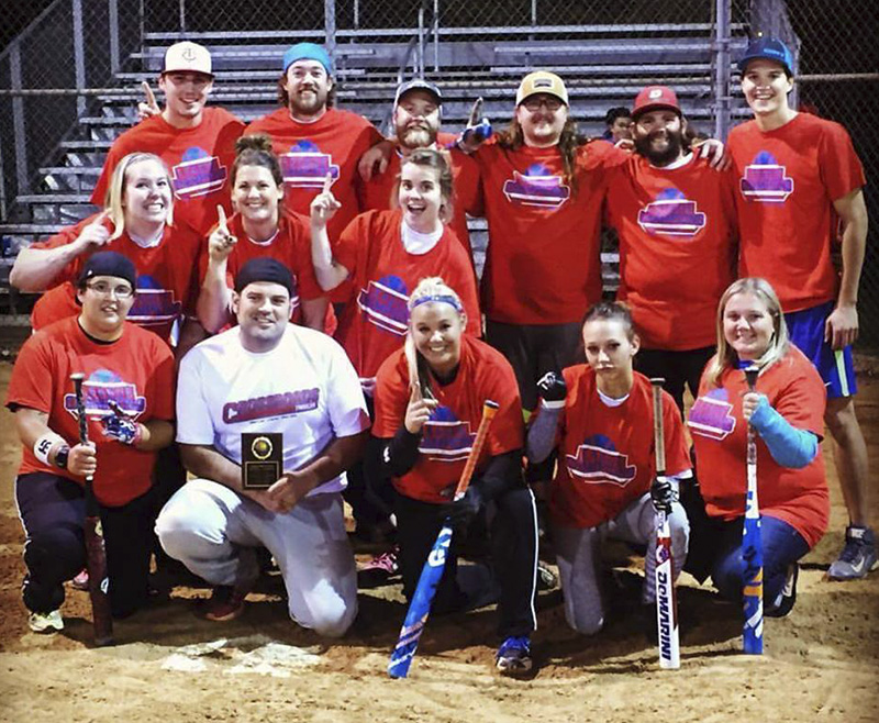 The team called Crossroads Trailers won the Albert Lea Parks and Recreation adult fall softball tournament. From left to right, front row, Jaci Sears, Micah Hrdalo, Amy Gunderson, Amanda Westcott and Tracy Behrends. Middle row, Jenny Hrdalo, Emily Light and Chelsey Benz. Back row, Andrew Clemens, Wes Kramer, Jennifer Davis, Keith Hill, Jay Behrends and Nick Dulas. - Provided