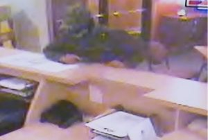 One of two photos released of the alleged robber of America's Best Value Inn. Provided