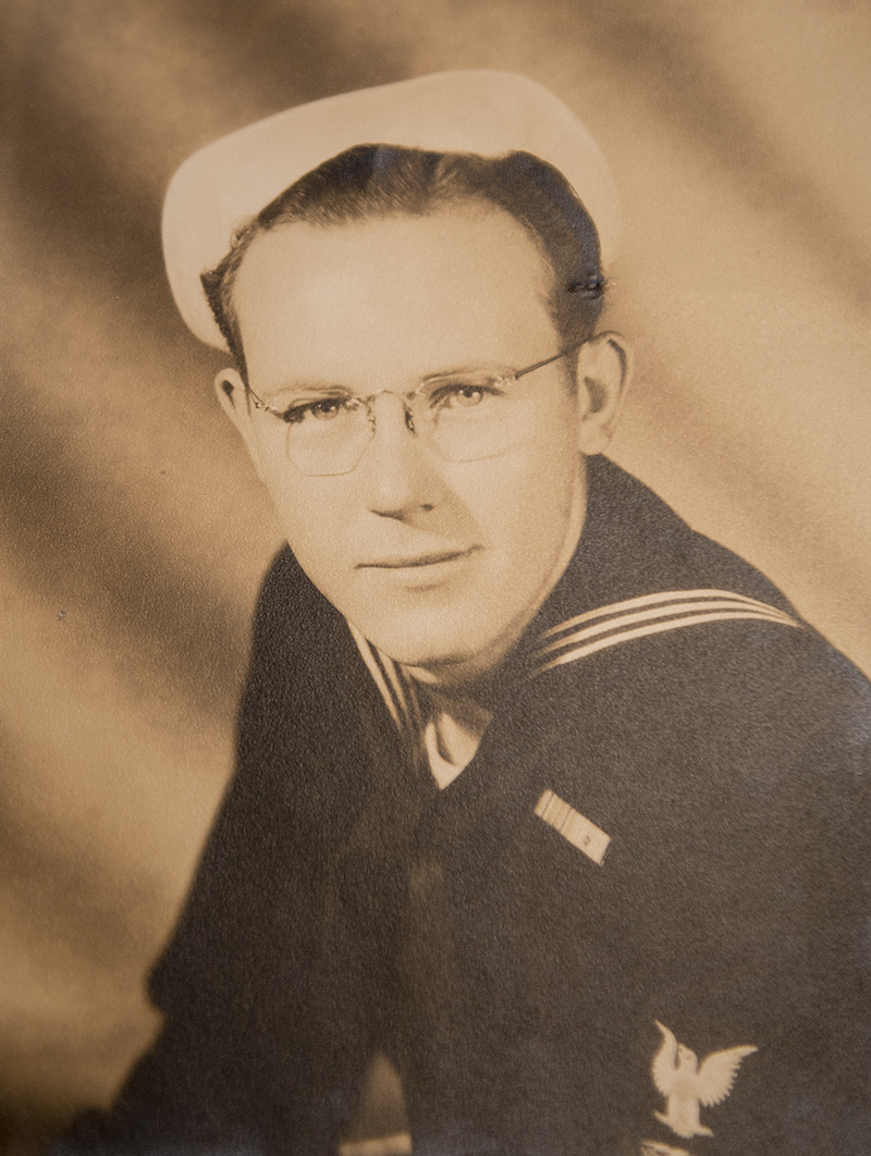 Richard Thunstedt enlisted in the U.S. Navy in 1942 after receiving a draft notice. - Provided