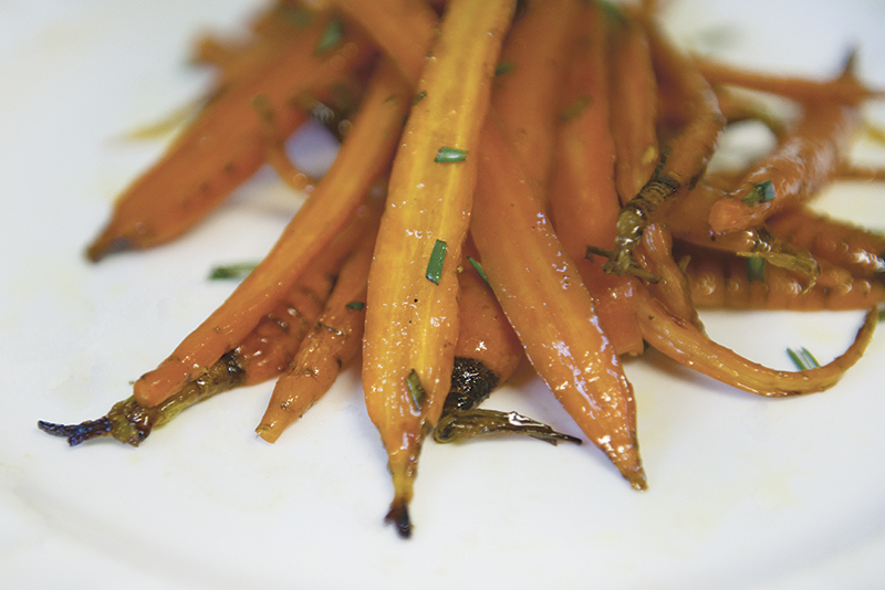 Honey Mustard and Rosemary Glazed Carrots