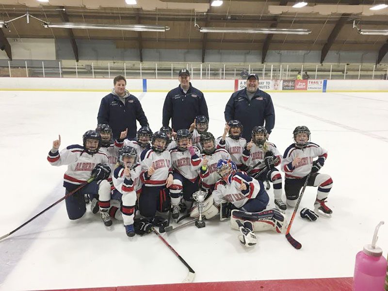 The Albert Lea U10 Red girls' hockey team won all four of its games and took first place in its home tournament in Albert Lea on Dec. 11. Sydney Fornwald, Shelby Evans, Lillian Hernandez, Morgan Goskeson, Jordan Habana, Olivia Ellsworth, Keira Erickson, Taylor Larsen, Lilyona Valdez, Emery Nelson, Mika Cichosz, Liley Steven and Zizi Willet are members of the team. Provided