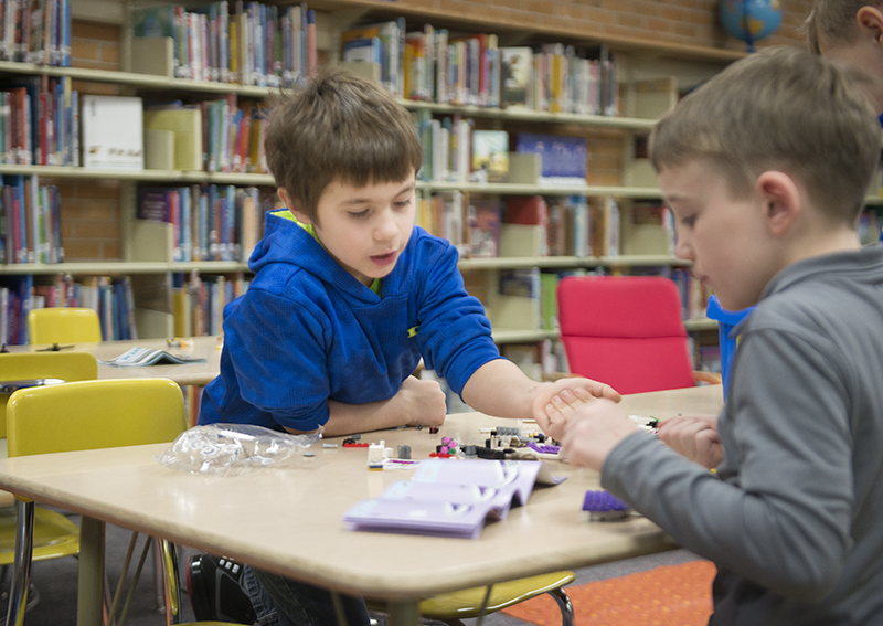 Hawthorne Elementary School's after-school program meets from 2:50 to 4:10 p.m. Mondays, Tuesdays and Wednesdays.  - Colleen Harrison/Albert Lea Tribune