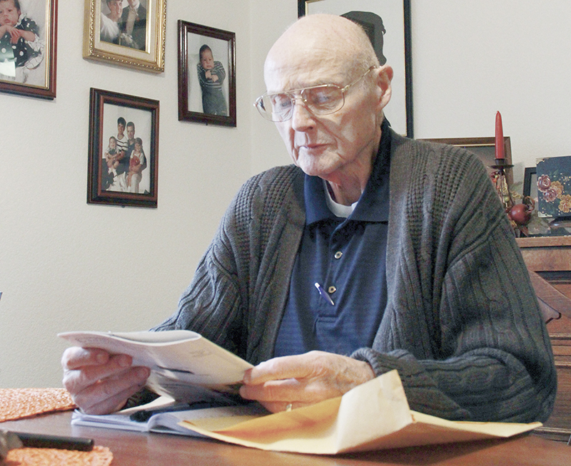 """Malcolm """"Mac"""" McDonald said that he wants a choice about how he dies. Diagnosed with lung cancer, McDonald wants legislators to adopt death with dignity legislation. - Deb Nicklay/Albert Lea Tribune"""