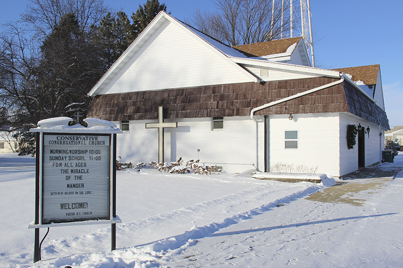 Conservative Congregational Church in Hollandale has about 30 to 35 members, according to its new pastor. - Sarah Stultz/Albert Lea Tribune