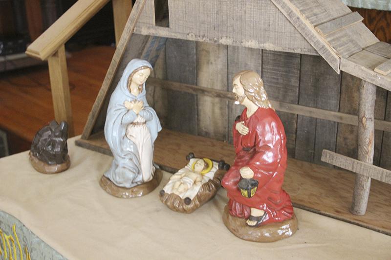 Pieces of a Nativity set sit in the sanctuary at Conservative Congregational Church in Hollandale. - Sarah Stultz/Albert Lea Tribune